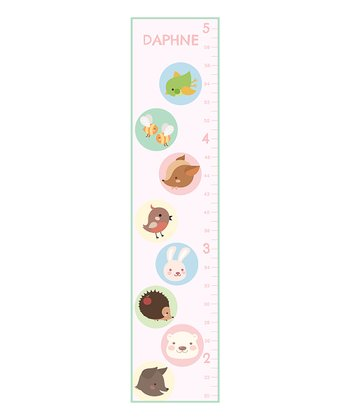 Animal Babies Personalized Growth Chart