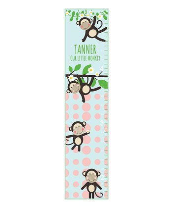 Little Monkeys Personalized Growth Chart