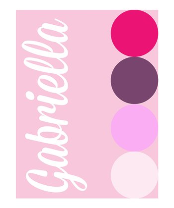 Pink Polka Dot Personalized Print