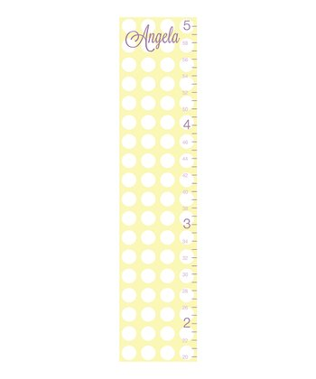 Polka-dot-script-Personalized-Growth Chart