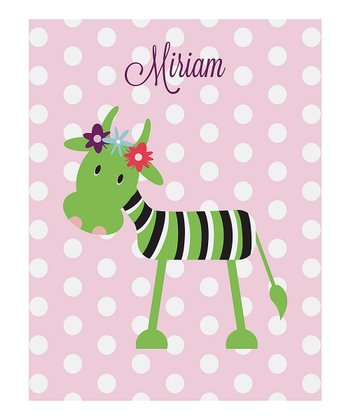 Pink Happy Cow Personalized Print