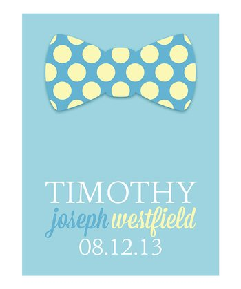 Bowtie Birthday Personalized Print