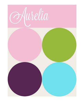 Geo Polka Dot Personalized Print