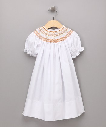 White Flower Bishop Dress - Infant, Toddler & Girls
