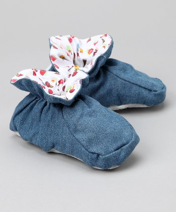 Denim Ice Cream Cone Slipper