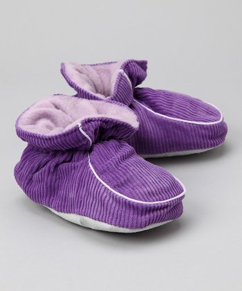Purple Corduroy Slipper