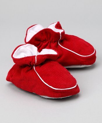 Red Corduroy Slipper