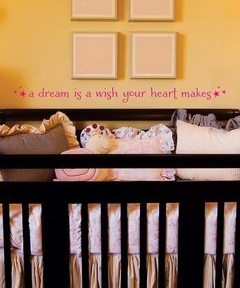 Pink 'Dream is a Wish' Wall Decal