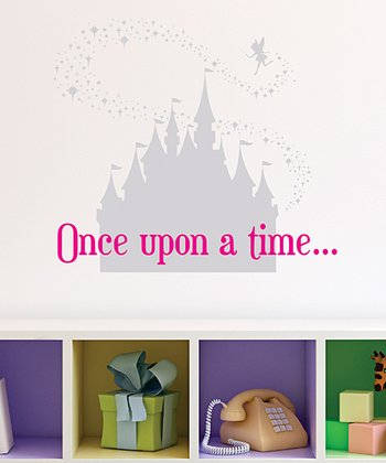 Silver & Pink Fairy Tale Castle Wall Decal