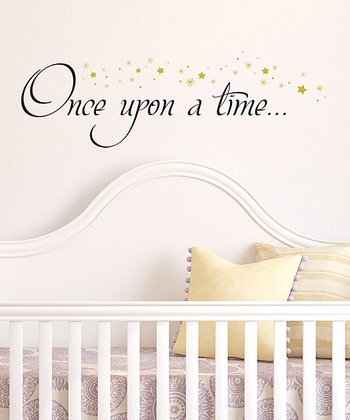 Black & Gold 'Once Upon a Time' Wall Decal