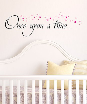 Black & Pink 'Once Upon a Time' Wall Decal
