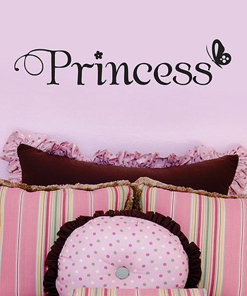 Black 'Princess' Butterfly Wall Decal
