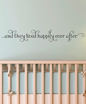 'Happily Ever After' Wall Decal