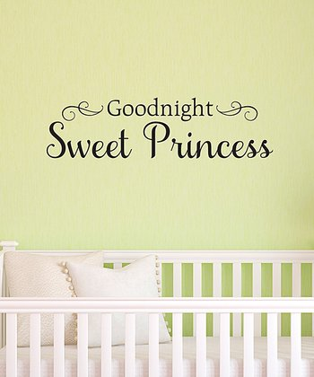 Black 'Goodnight Sweet Princess' Wall Decal