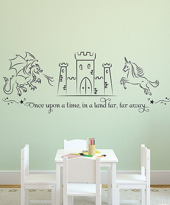 Black 'Once Upon a Time' Castle Wall Decal