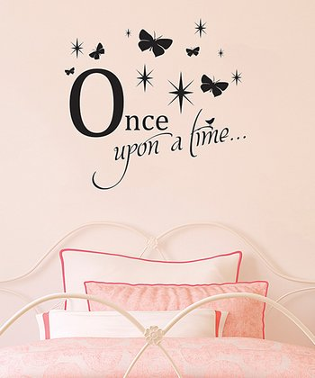 'Once Upon a Time' Butterfly Sparkles Wall Decal