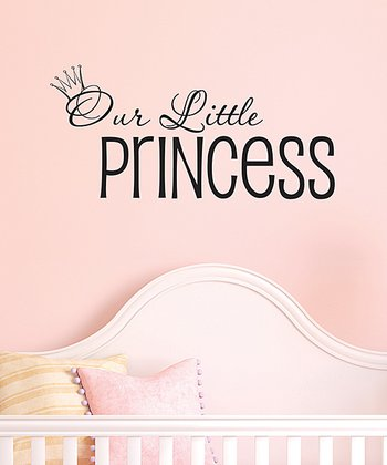 Black 'Our Little Princess' Wall Decal