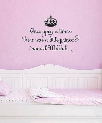 Black 'A Princess Named…' Personalized Wall Quotes Decal
