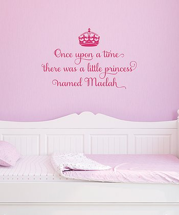 Pink 'A Princess Named…' Personalized Wall Quotes Decal