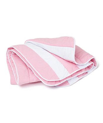 Soft Pink & White Reversible Comforter