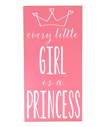 Pink & White 'Every Little Girl' Wall Art