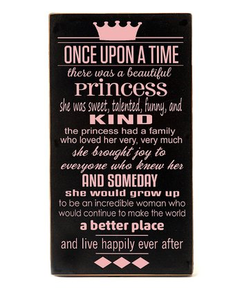 Black & Pink Princess 'Once Upon a Time' Wall Art