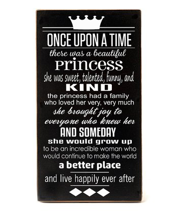 Black & White Princess 'Once Upon a Time' Wall Art