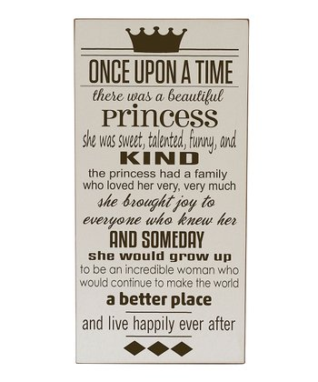 Cream & Brown Princess 'Once Upon a Time' Wall Art