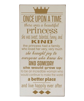 Cream & Gold Princess 'Once Upon a Time' Wall Art