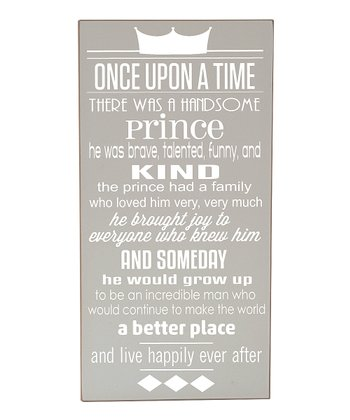 Gray & White Prince 'Once Upon a Time' Wall Art