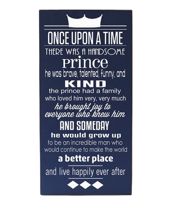 Navy & Cream Prince 'Once Upon a Time' Wall Art