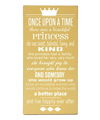Yellow & White Princess 'Once Upon a Time' Wall Art