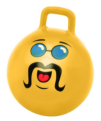 Yellow Adult Jumping Ball