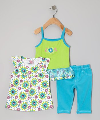 Green Capri Pants Set - Infant & Toddler
