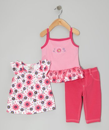 Red Capri Pants Set