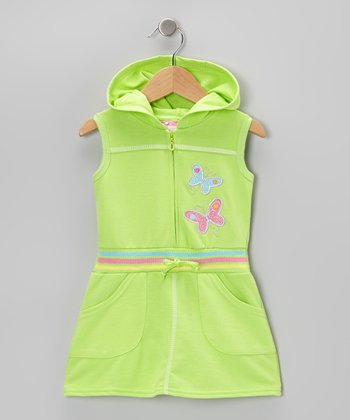Green Butterfly Romper - Infant, Toddler & Girls