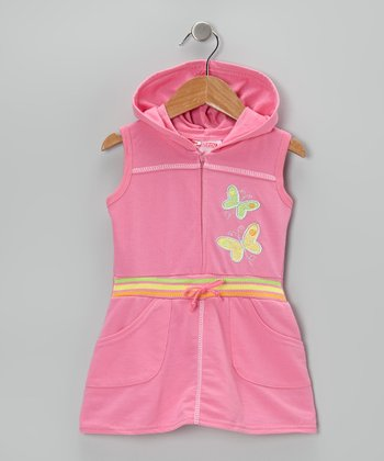 Pink Butterfly Romper - Infant, Toddler & Girls