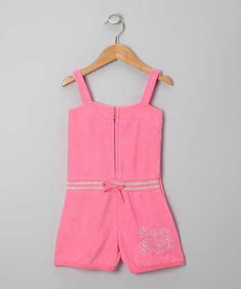 Pink 'Super Star' Romper - Toddler & Girls