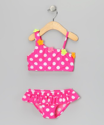 Pink Polka Dot Bikini - Infant