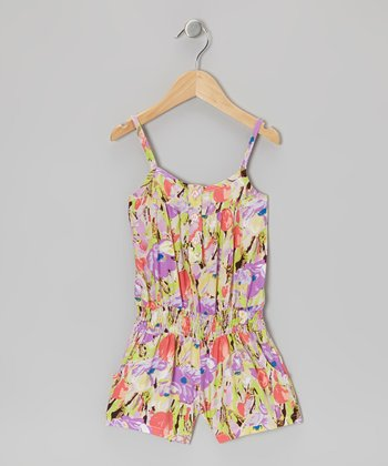 Lavender Rose Romper - Girls