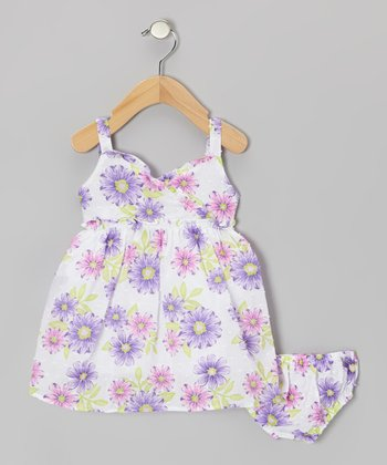 Purple Floral Dress - Infant, Toddler & Girls