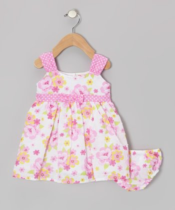 Pink & White Floral Dress - Infant, Toddler & Girls