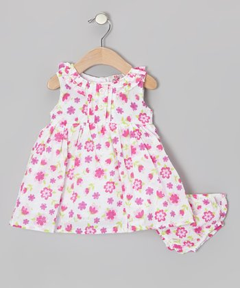 Pink Floral Swing Dress - Infant, Toddler & Girls