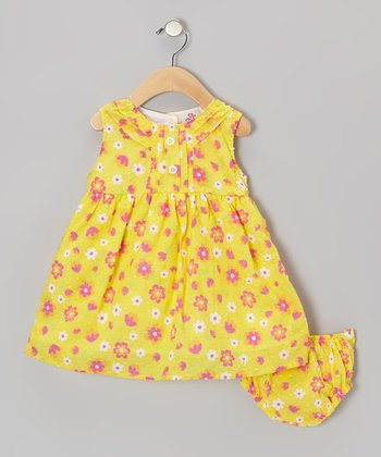 Yellow Floral Swing Dress - Infant, Toddler & Girls