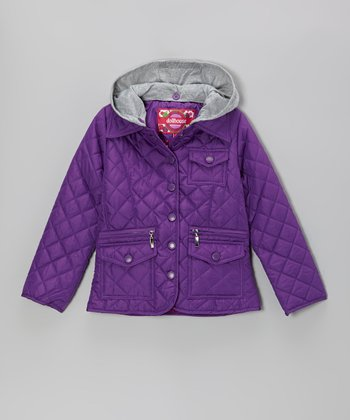 Purple Quilted Jacket - Toddler & Girls