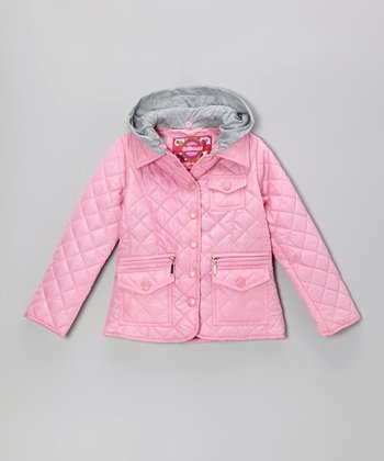 Begonia Pink Quilted Jacket - Toddler & Girls