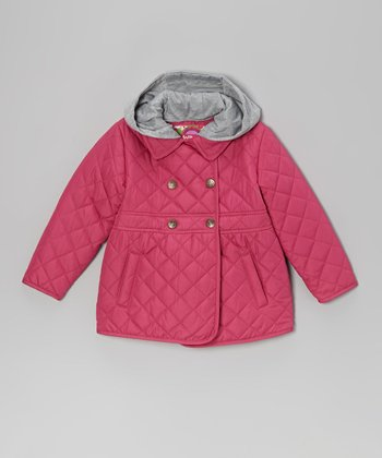 Begonia Pink Quilted Jacket - Toddler