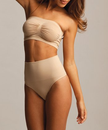 Nude High-Waist Shaper Thong - Women