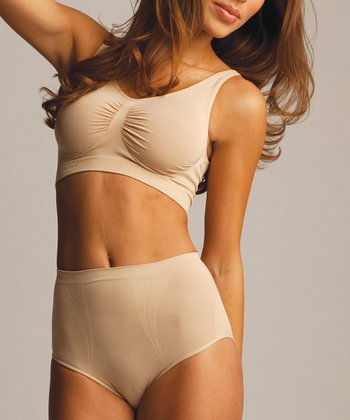Nude High-Cut Shaper Briefs - Women