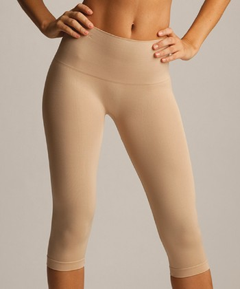 Nude High-Waisted Shaper Capri Leggings - Women
